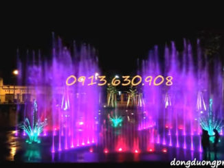 Nhạc Bóng Bóng Bang Bnag thể hiện qua vũ điệu nước và ánh sáng