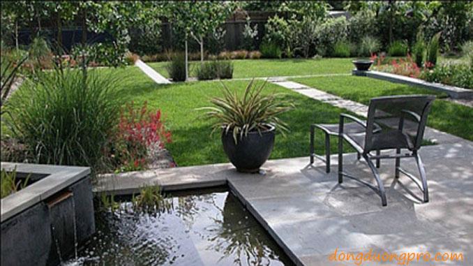 sân vườn biệt thự hiện đại - thiết kế và xây dựng sân vườn đẹp