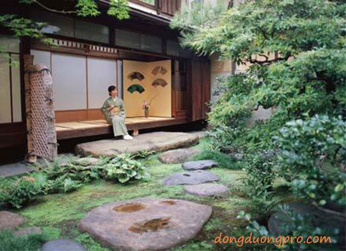 Sân vườn trà đạo - Vườn Nhật Bản