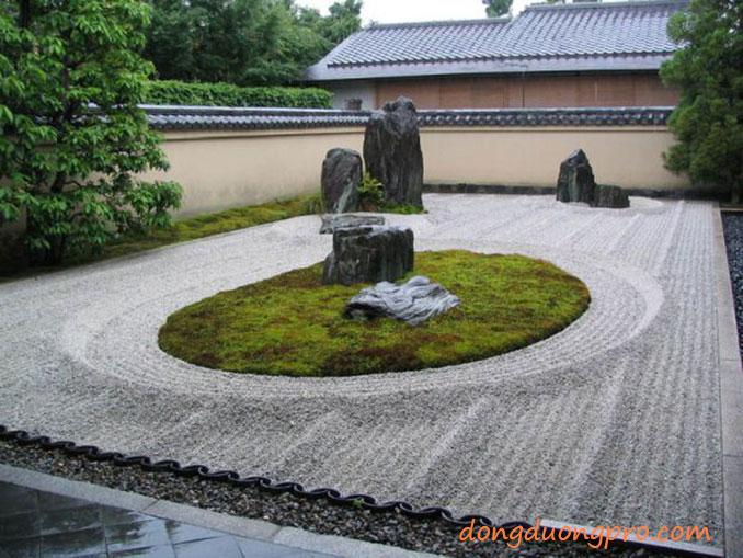Mẫu sân vườn cát và đá - Vườn Nhật Bản