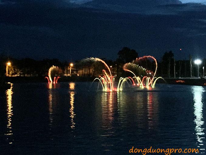 Nhạc nước Tp. Quảng Ngãi ngay hồ trung tâm khu đô thị Ngọc Bảo Viên