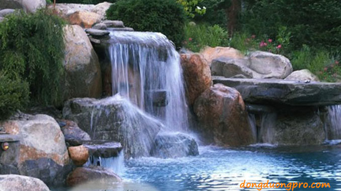 Thiết kế hồ bơi có thác nước