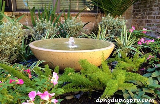 Ý tưởng thiết kế đài phun nước mini trong sân vườn nhà bạn