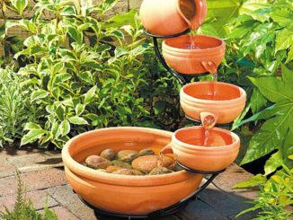 Ý tưởng thiết kế đài phun nước mini cho sân vườn